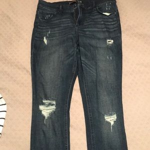 Express, semi distressed jeans